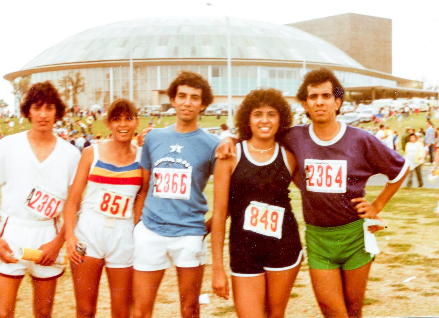 Vintage Photo of Runners