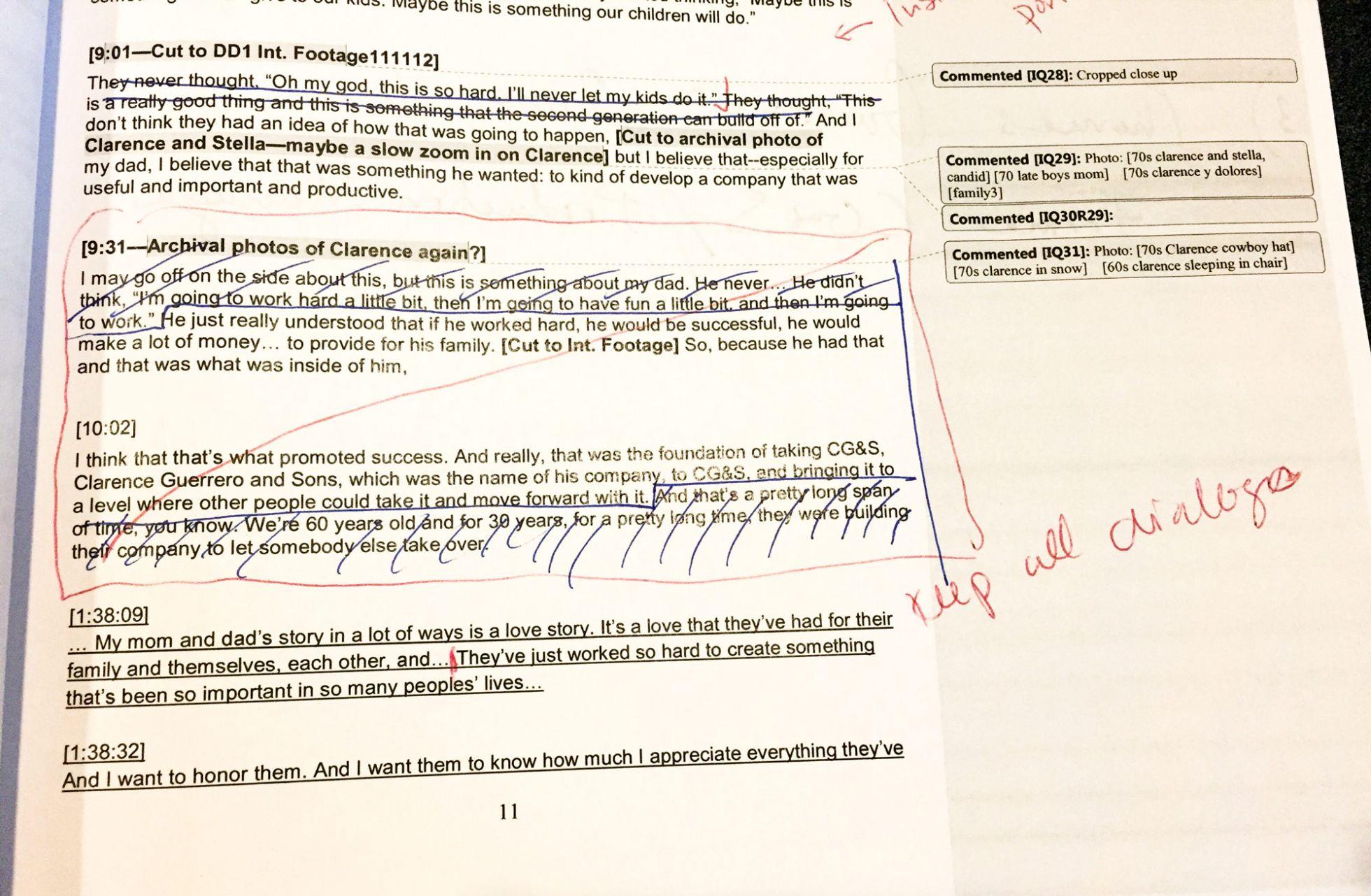 Script Edits