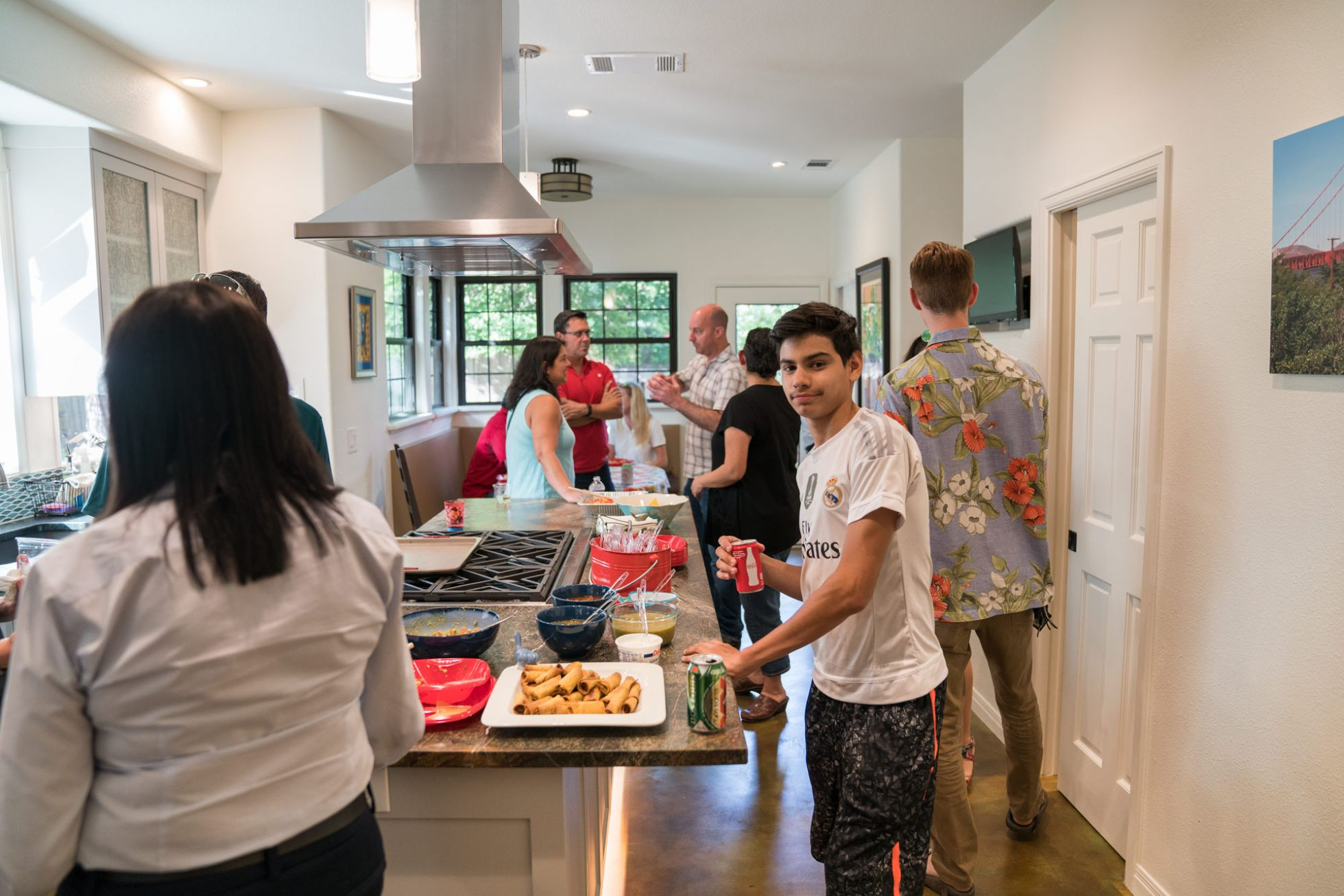Home party in kitchen