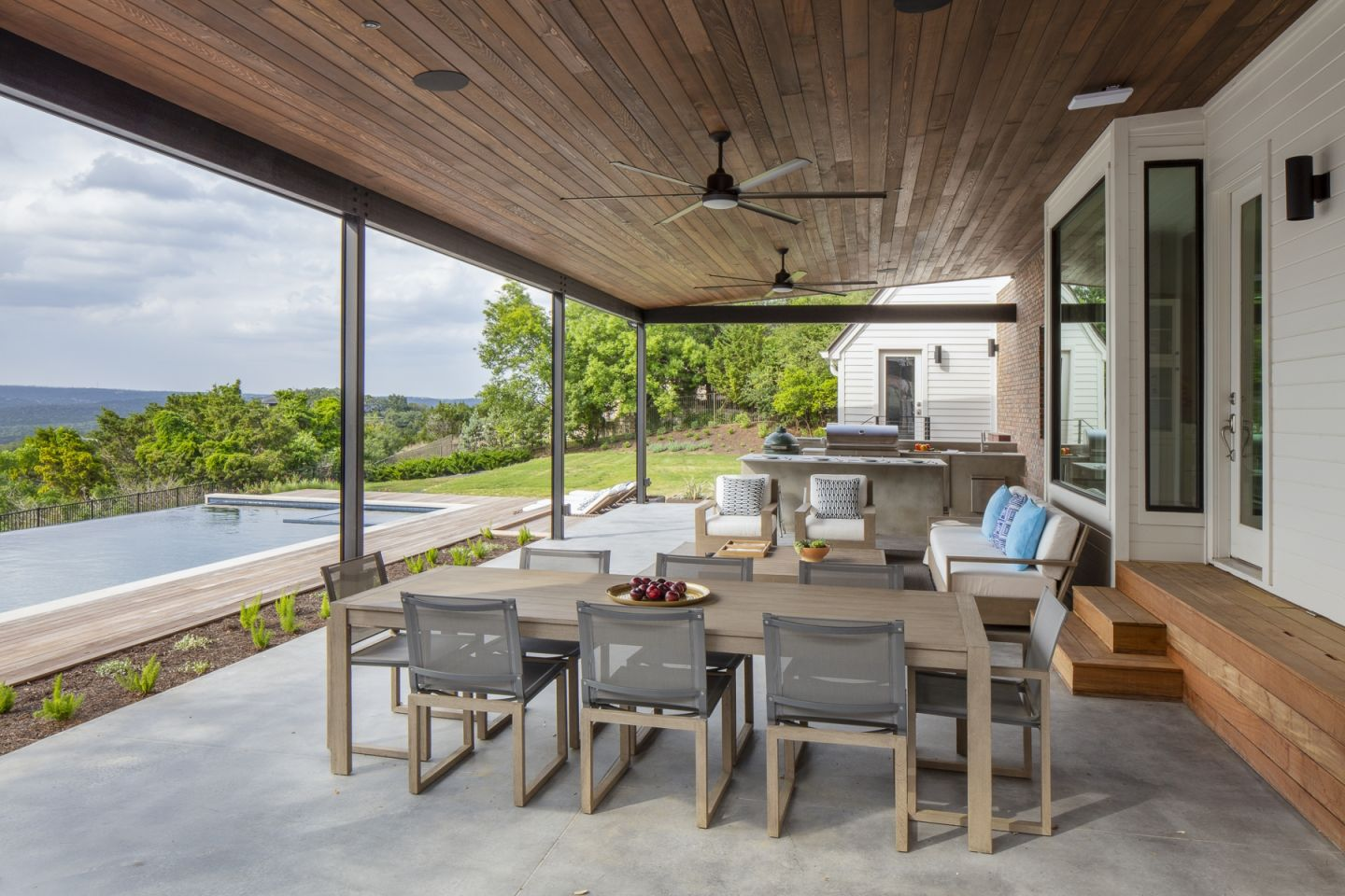Wooden Home Porch with Natural Views