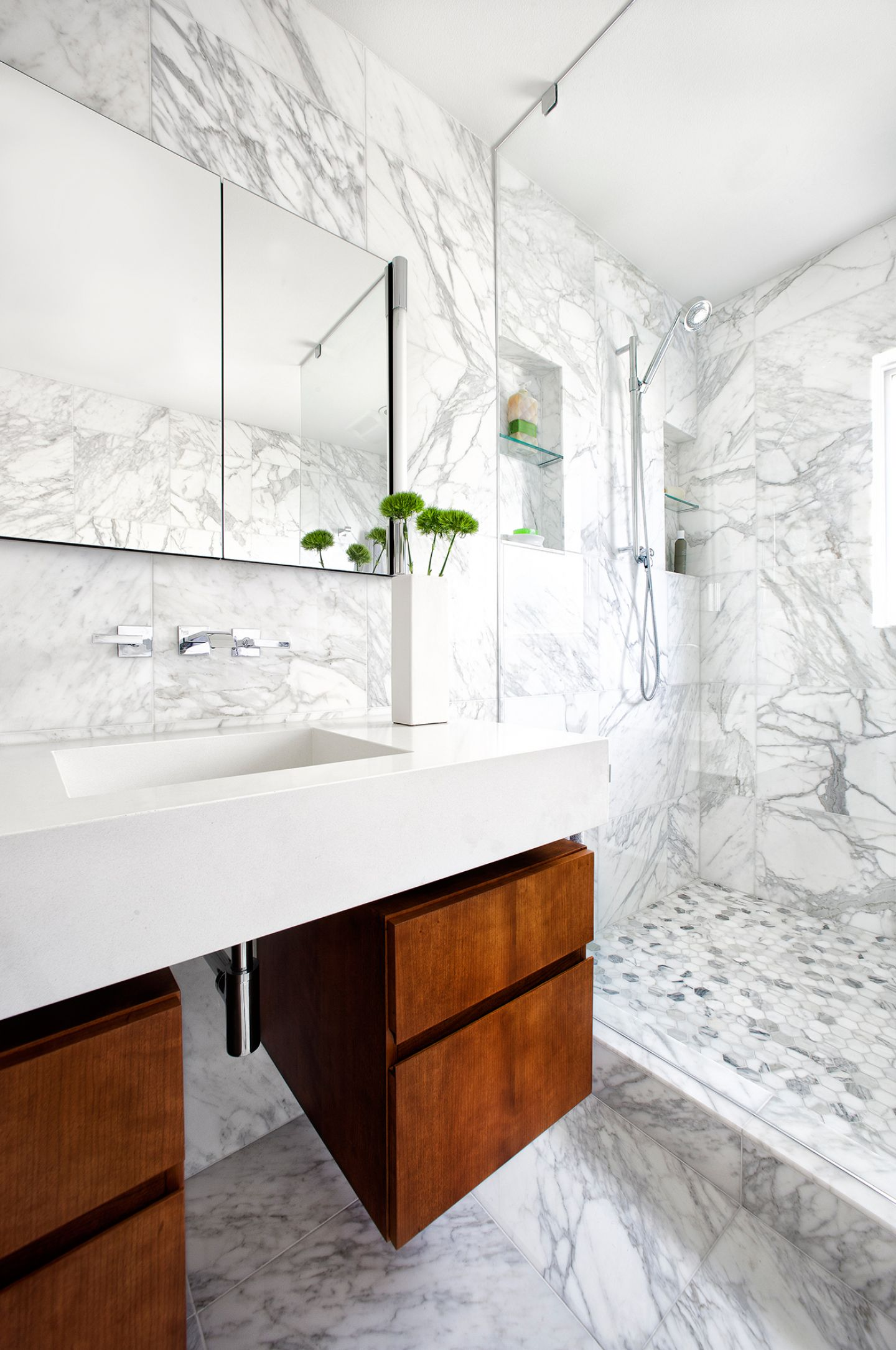 Marble Bathroom Makeover 1