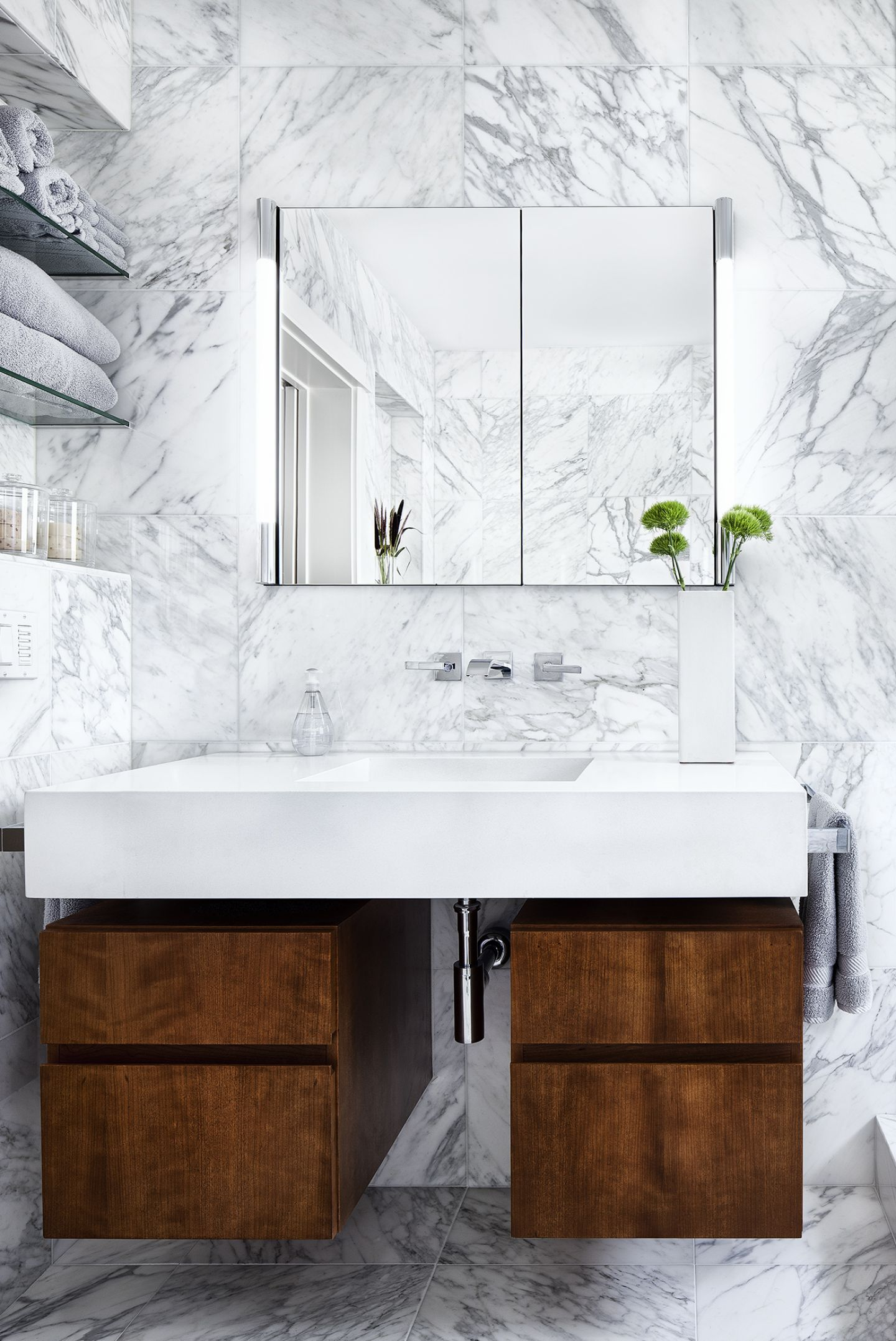 Marble Bathroom Makeover